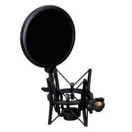 Mic pop screen online shopping - New miniphone Mic Professional Mount with Pop Shield Filter Screen R1BO Black