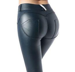09fc08988705c2 New Fashion 2019 Women FQLWL Faux Pu Leather Leggings Thick Black Push Up  High Waist Leggings Women Plus Size Winter Legging Sexy Pants