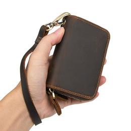 $enCountryForm.capitalKeyWord Australia - Men Purse KGenuine Leatherey Holders Vintage Change Purses Women Wallet Men's Pocket Coin Purse Brown Zipper Coin Purse Credit Card Holder