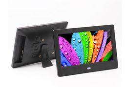 Ingrosso Cornici per foto digitali da 7 pollici TFT LCD Wide Screen Desktop Digital Photo Frame cornice in vetro