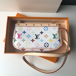 Authentic Flowers Australia - 2019 classic hot-selling brand handbag, authentic cowhide luxury antique white color small bag