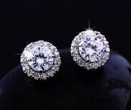 Gold biG heart online shopping - 2018New Arrival Best Friends K White Gold Plated Earings Big Diamond Earrings for Women White Zircon Earrings