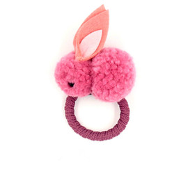 Hair plusH online shopping - Children winter wool felt hair accessories cute plush hair ring girls cartoon elastic band rubber band ponytail ties