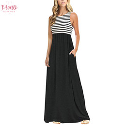 elegant striped dresses for women 2020 - Summer Maxi Dress 2020 Women Elegant Striped Sleeveless Party Long Dress Woman Party Night Dresses Summer Clothes For Wo
