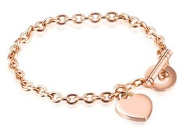 $enCountryForm.capitalKeyWord Australia - Hot sale new Women girl fashion jewelry rose gold heart bracelet birthday festival gift