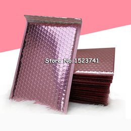 BuBBle packages online shopping - 50pcs Rose Gold Bubble Envelop Metallic Rose Gold Foil Bubble Mailer for Gift Packaging Wedding Favor Bag