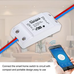 Wholesale Sonoff Basic Smart Wifi Switch Wireless Remote Control Light Switch Socket Smart Home Controller Work with Alexa and Google
