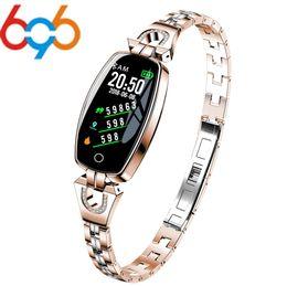h8 smart watch 2019 - 696 Woman H8 Smart Watch Bracelet Heart Rate Blood Pressure Watch Pedometer Waterproof Fitness Activity Tracker Bracelet