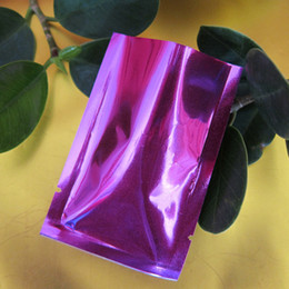 coffee storage bags wholesale NZ - 100Pcs Lot 14*20cm Purple Aluminum Foil Coffee Packaging Open Top Heat Seal Mylar Foil Pouch For Food Snack Storage Vacuum Bag