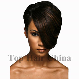 $enCountryForm.capitalKeyWord Australia - Top Hair China Limit Customized Best Quality Short Straight Synthetic Wig Side Bang Wigs Full Wig for Black Woman Free Shipping