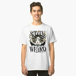 $enCountryForm.capitalKeyWord UK - Rose and The Ravens Stay Weird Colour Version Men White T Shirt Size S to 2XL