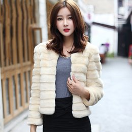 White Faux Fur Shorts Australia - 2018 autumn and winter New Korean faux fur jacket women Rabbit Jacket Short faux fur coat coat female