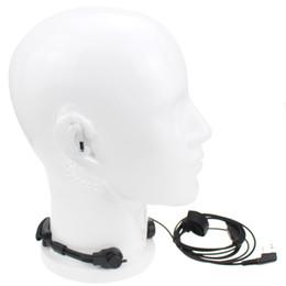 $enCountryForm.capitalKeyWord Australia - Vineyuan Universal K Plug 2 Pin PTT Throat Vibration Mic Headphone With Acoustic Air Tube Headset Earbud For Baofeng