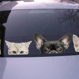 $enCountryForm.capitalKeyWord Australia - Funny 3D Cat Dog Half a face Peeking car sticker Wall background Art decals decorations Window Glass Stickers Car Film Cute Pet