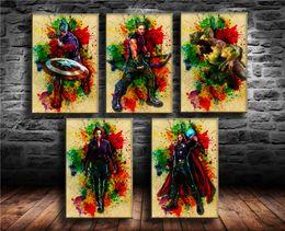 $enCountryForm.capitalKeyWord NZ - (Unframed Framed) Anime Avengers -00,5 Pieces Canvas Prints Wall Art Oil Painting Home Decor.