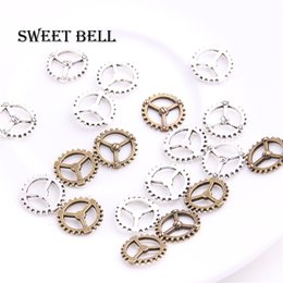 $enCountryForm.capitalKeyWord NZ - SWEET BELL 200pcs 12mm two color Steampunk Gear Jewelry Charms Zinc Alloy Trendy Cameo Small Gear Pendant Jewelry 5C891