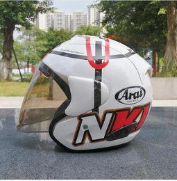 Half Face Helmets Australia - ARAI Dual Use Skull Motorcycle Helmet Capacete Casco Novelty Retro Casque Motorbike Half Face Helmet free shipping