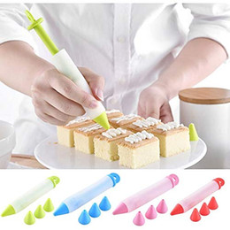 cake decorating icing pens NZ - New Silicone Writing Pen Chocolate Cake Decorating Tools Cream Cup Icing Piping Comfortable