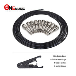 $enCountryForm.capitalKeyWord Australia - DIY Guitar Pedal Patch Cable Solder-free Pedal Board Copper Cable Kit Set 10ft 10 Strait Audio Solderless 6.35 Mono Plugs For Effect Pedal