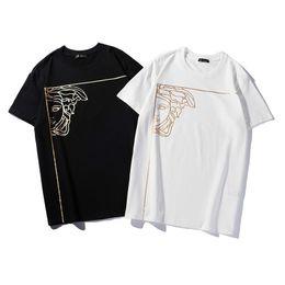 $enCountryForm.capitalKeyWord Australia - T shirts for mens new T-shirt round neck fashion wild shirt half face hot stamping head print T-shirt