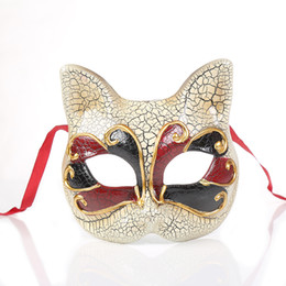 $enCountryForm.capitalKeyWord NZ - Venetian Masquerade Masks for Child Crack Cat Face Party Mask Party Ball Prom Mardi Gras Wedding Wall Decoration