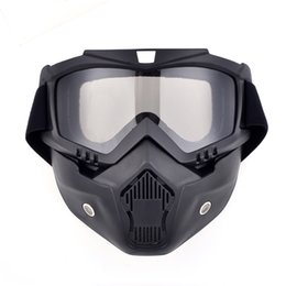 $enCountryForm.capitalKeyWord Australia - New motorcycle helmet face mask dust mask with detachable Goggles Mouth Filter for modular Open Face moto Vintage Helmets