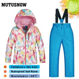 $enCountryForm.capitalKeyWord Australia - MUTUSNOW Girls Ski Suit New Children's Brands High Quality Windproof Waterproof Snow Super Warm Child Winter Thicken Snowboarding Suit LFSJ