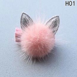 $enCountryForm.capitalKeyWord Australia - 1 Pcs Lovely Rabbit Ear Hair Ball Baby Hairpins Kids Clips Princess Barrette Children Headwear Girls Hair Accessories