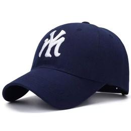 $enCountryForm.capitalKeyWord Australia - Cotton Blue Adult Unisex Casual Baseball Caps fashion Snapback hats for men women black sport gorras NY cap