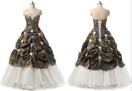 best ball gown wedding dresses 2019 - Best Sale Camo Ball Gown Wedding Dresses Sweetheart Ruffles Applique Flowers Cheap Real Photos Vestido De Novia Wedding