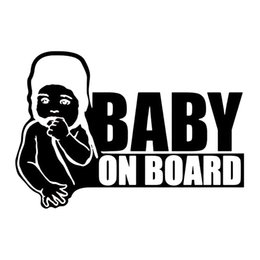 baby board window stickers Australia - 15*10.3cm Baby on Board Car Sticker Decal Vinyl Window Funny Safety Sign Child Bumper Car Sticker