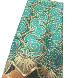 Chinese  Beaded African Lace Fabric 2019 Teal Blue Dubai Mesh Laces Material French Net Cord Lace Fabric For Evening Dresses manufacturers