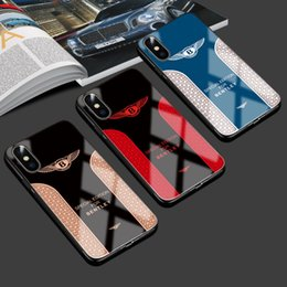 Wholesale NEW Sports car tempered glass cool sports car mirror car logo phone case for Xsmax Factory direct sales Support delivery