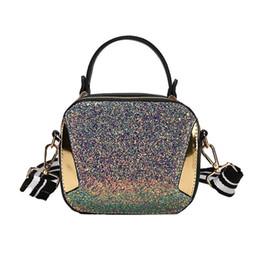 $enCountryForm.capitalKeyWord Australia - good quality Summer Small Handbags Fashion Rainbow Sequin Shoulder Bags Panelled Hand Bag For Women Striped Wide Shoulder Straps Phone
