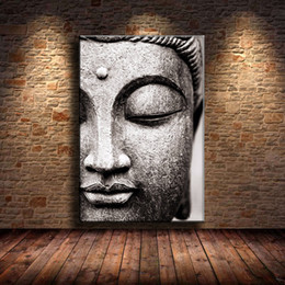 $enCountryForm.capitalKeyWord Australia - (Unframed Framed) Buddha Black and White,Home Decor HD Printed Modern Art Painting on Canvas 16x24.
