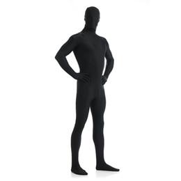 Purple Body Suit Costume Australia - Speerise Adult Lycra Spandex Nylon Eyes Open Black Zentai Suit Men One Piece Second Skin Tights Full Body Zentai Custom Costumes