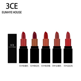 Lipstick Lasts Australia - 3CE Eunhye House Lipsticks Matte Liquid Lipstick Makeup Matte Lip Gloss Set Liquid Easy To Wear Long Lasting 5 Colors