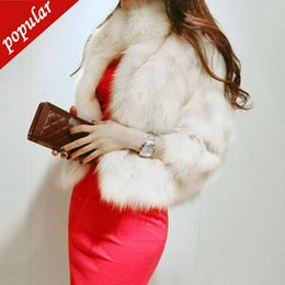 $enCountryForm.capitalKeyWord NZ - New Autumn Winter Women Fashion Stand Collar Short Faux Fur Coats Jackets Female Solid Imitation Fox Fur Coat W1042
