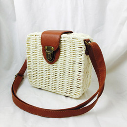 $enCountryForm.capitalKeyWord NZ - 2019 New Fashion Square Straw Beach Bags for Women Summer Knitted Rattan Shoulder Bag Hlt Sale Handmade Woven Beach Cross Body Bags Bolsa