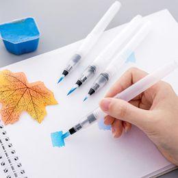 $enCountryForm.capitalKeyWord Australia - 4 Pcs set Students Paint Brush Water Color Brush Pencil Soft Watercolor Brush Pen For Beginner Painting Drawing Art Supplies