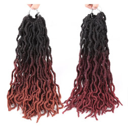 """$enCountryForm.capitalKeyWord Australia - Hot selling fashion short hair extensions 18"""" water wave ombre color Crochet braid Faux Locs Senegalese twist hair for Afro 18PCS Lot"""
