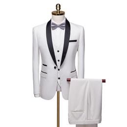 $enCountryForm.capitalKeyWord Australia - 2019 Mens Tuxedo Suit 3 Piece Set White Blue Red Asia Size s-6xl Men Blazer WL
