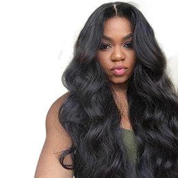 Human Hair For Wigs UK - Eseewigs Body Wave Middle Part 150 Density 360 Lace Frontal Wigs Baby Hair Pre Plucked Brazilian Remy Human Hair Wigs For Women