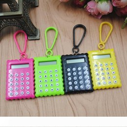 thinnest battery card NZ - A 10pc stationery card portable calculator mini handheld ultra-thin Card calculator Small Slim Pocket Calculator Small battery