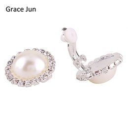 Grace Jun 4 Colors Choose Big Round Aaa Cz Rhinestone Clip On Earring No Pierced Party Wedding Charm Neednt Ear Hole Earrings Novel In Design;