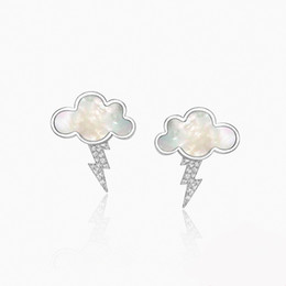 EmErald finE jEwElry online shopping - New Clouds Thunder Copper Studs Earrings Silver Needles High Quality Personalized Women Charm Earrings Fine Jewelry Gifts T7190617