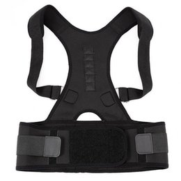 Discount magnetic therapy magnets - Magnetic Therapy Back Corset Shoulder Lumbar Posture Corrector Adult Spine Back Support Posture Correction Belt 10 Magne