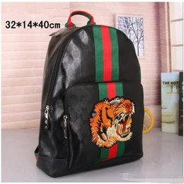 Animal Head Backpacks Australia - High quality men and women fashion fabric pattern handbags storage shoulder bag tiger head animal pattern shoulder bag backpack