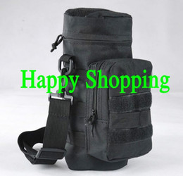 Discount molle utility pouch bag - Molle Zipper Tactical Water Bottle Pouch Utility Medic Pouch Kettle Package Hunting Outdoor Canteen Travel Bag