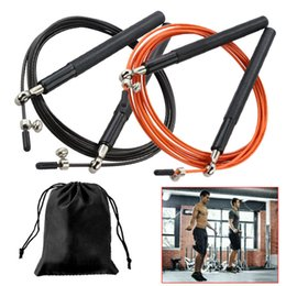 fitness cables Canada - Speed Jump Rope Professional Skipping Rope For Boxing Fitness Skip Workout Training With Carrying Bag Spare Cable